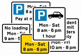 Map-based inventory of parking and moving traffic regulations