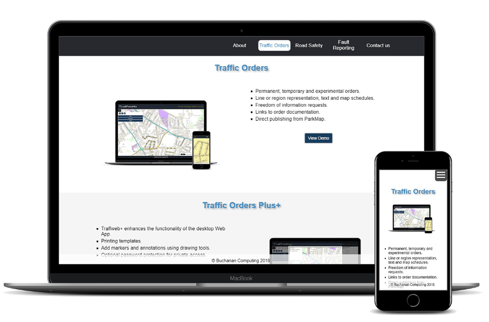 Traffweb Demonstration site